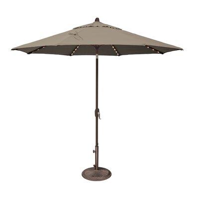 Lanai 9' Lighted Umbrella Fabric: Sunbrella / Cocoa SSUM81SL-0900-A5425