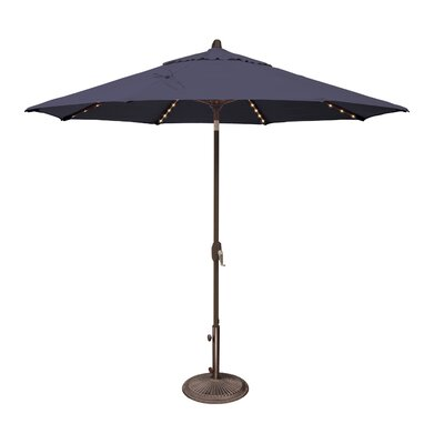 9 Lanai Illuminated Umbrella Fabric: Sunbrella / Navy