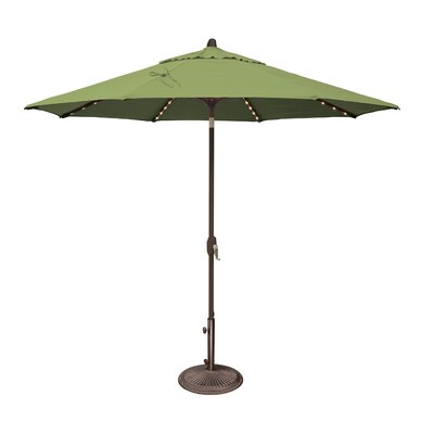 9 Lanai Illuminated Umbrella Fabric: Sunbrella / Ginkgo