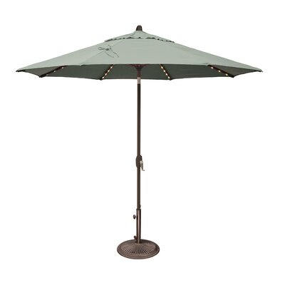 9 Lanai Illuminated Umbrella Fabric: Sunbrella / Spa