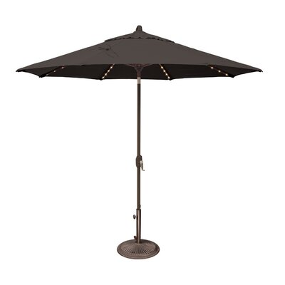 9 Lanai Illuminated Umbrella Fabric: Sunbrella / Black