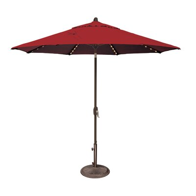 9 Lanai Illuminated Umbrella Fabric: Solefin / Really Red