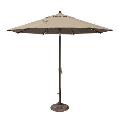 9 Lanai Illuminated Umbrella Fabric: Solefin / Beige
