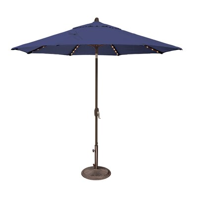 9 Lanai Illuminated Umbrella Fabric: Solefin / Sky Blue