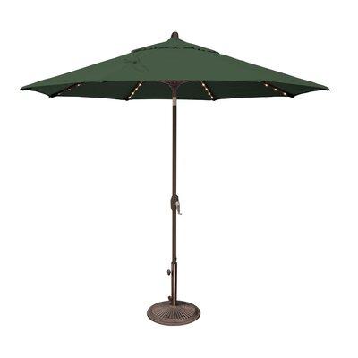 9 Lanai Illuminated Umbrella Fabric: Solefin / Forest Green