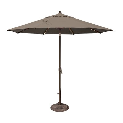 9 Lanai Illuminated Umbrella Fabric: Solefin / Taupe