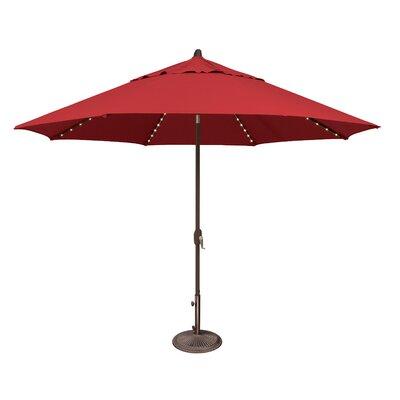 11 Lanai Illuminated Umbrella Fabric: Sunbrella / Jockey Red