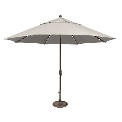 11 Lanai Illuminated Umbrella Fabric: Sunbrella / Natural