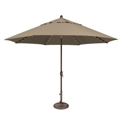 11 Lanai Illuminated Umbrella Fabric: Sunbrella / Cocoa