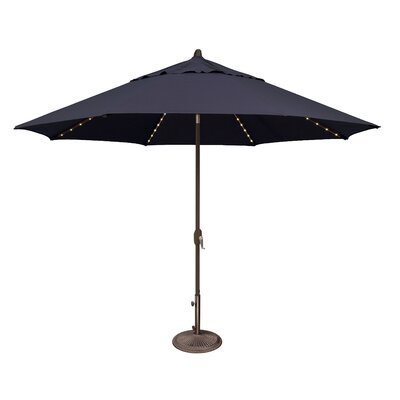 11 Lanai Illuminated Umbrella Fabric: Sunbrella / Navy