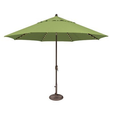 11 Lanai Illuminated Umbrella Fabric: Sunbrella / Ginkgo