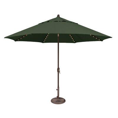 11 Lanai Illuminated Umbrella Fabric: Sunbrella / Forest Green