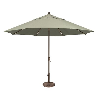 11 Lanai Illuminated Umbrella Fabric: Sunbrella / Spa