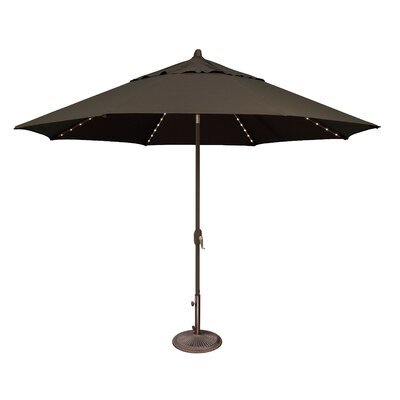 11 Lanai Illuminated Umbrella Fabric: Sunbrella / Black