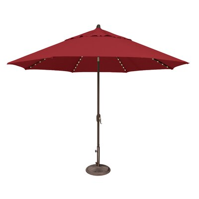 11 Lanai Illuminated Umbrella Fabric: Solefin / Really Red