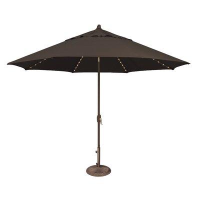 11 Lanai Illuminated Umbrella Fabric: Solefin / Black