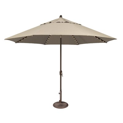 11 Lanai Illuminated Umbrella Fabric: Solefin / Beige