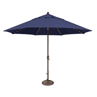 11 Lanai Illuminated Umbrella Fabric: Solefin / Sky Blue
