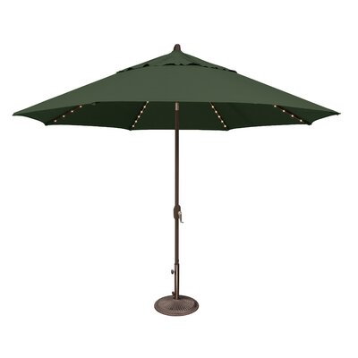 11 Lanai Illuminated Umbrella Fabric: Solefin / Forest Green