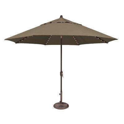 11 Lanai Illuminated Umbrella Fabric: Solefin / Taupe