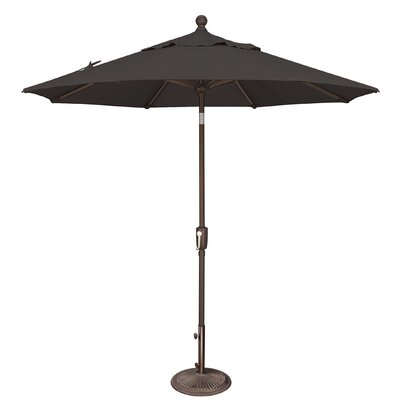 7.5 Catalina Market Umbrella Fabric: Sunbrella / Black