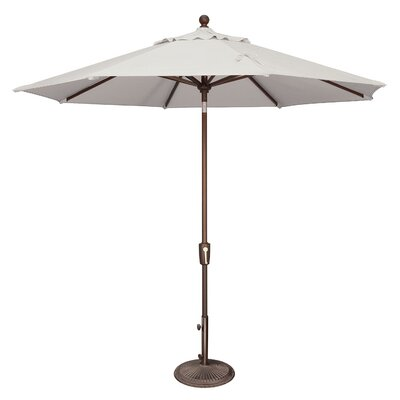 9 Catalina Market Umbrella Fabric: Sunbrella / Natural