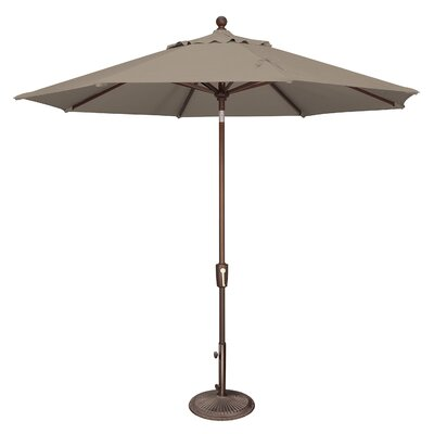 Simplyshade 9 Ft. Octagon Push Button Tilt Market Umbrella Cocoa SSUM92-0900-A5425