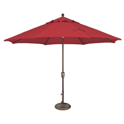 11 Catalina Market Umbrella Fabric: Sunbrella / Jockey Red