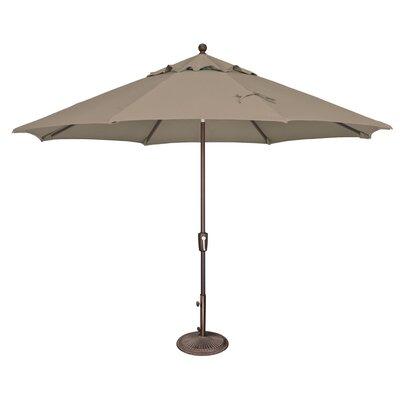 Simplyshade 11 Ft. Catalina Octagon Push Button Tilt Market Umbrella Cocoa SSUM92-1100-A5425