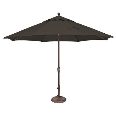 11 Catalina Market Umbrella Fabric: Sunbrella / Black