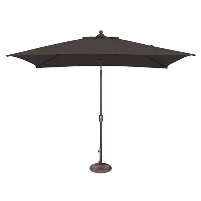 10 x 6.5 Catalina Rectangular Market Umbrella Fabric: Sunbrella / Black