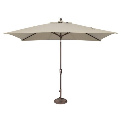 10 x 6.5 Catalina Rectangular Market Umbrella Fabric: Sunbrella / Antique Beige