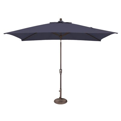 10 x 6.5 Catalina Rectangular Market Umbrella Fabric: Sunbrella / Navy