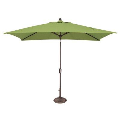 10 x 6.5 Catalina Rectangular Market Umbrella Fabric: Sunbrella / Ginkgo