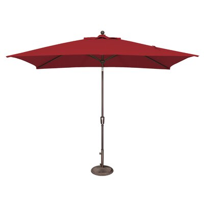 10 x 6.5 Catalina Rectangular Market Umbrella Fabric: Solefin / Really Red