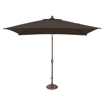 10 x 6.5 Catalina Rectangular Market Umbrella Fabric: Solefin / Black