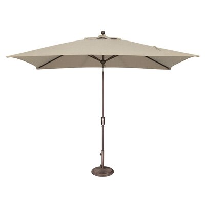 10 x 6.5 Catalina Rectangular Market Umbrella Fabric: Solefin / Beige