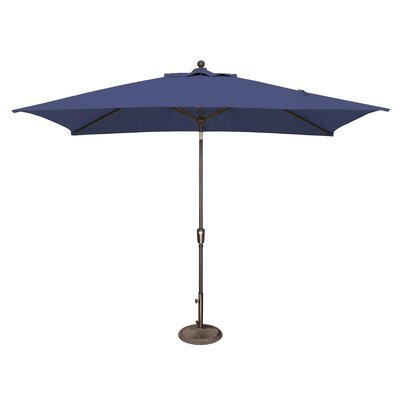 10 x 6.5 Catalina Rectangular Market Umbrella Fabric: Solefin / Sky Blue
