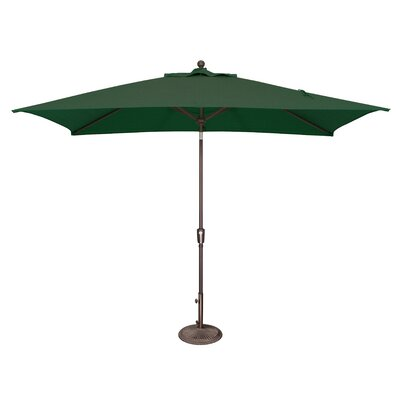 10 x 6.5 Catalina Rectangular Market Umbrella Fabric: Solefin / Forest Green