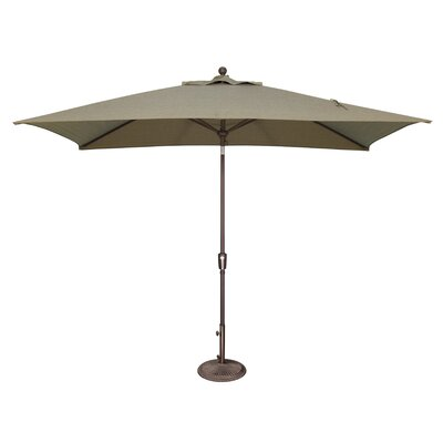 10 x 6.5 Catalina Rectangular Market Umbrella Fabric: Solefin / Taupe