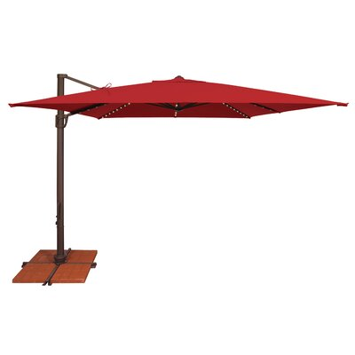 10 Bali Square Cantilever Umbrella Fabric: Sunbrella / Jockey Red