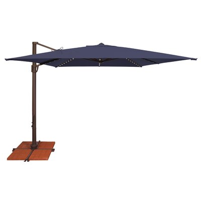 10 Bali Square Cantilever Umbrella Fabric: Sunbrella / Navy