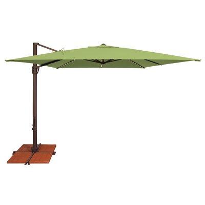 10 Bali Square Cantilever Umbrella Fabric: Sunbrella / Ginkgo