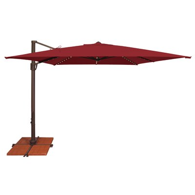 10 Bali Square Cantilever Umbrella Fabric: Solefin / Really Red