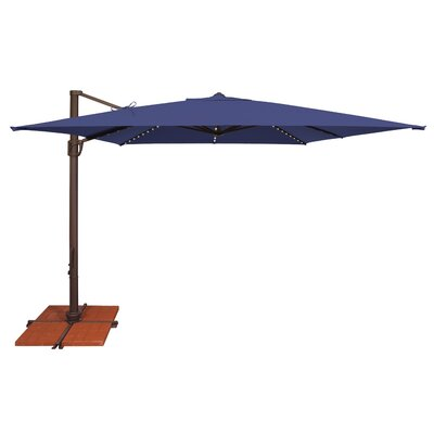 10 Bali Square Cantilever Umbrella Fabric: Solefin / Sky Blue