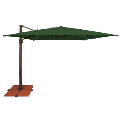 10 Bali Square Cantilever Umbrella Fabric: Solefin / Forest Green