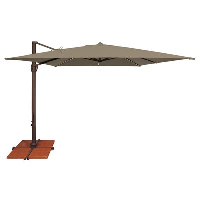 Bali Square Pro Cantilever Umbrella Fabric Solefin Taupe - Product photo