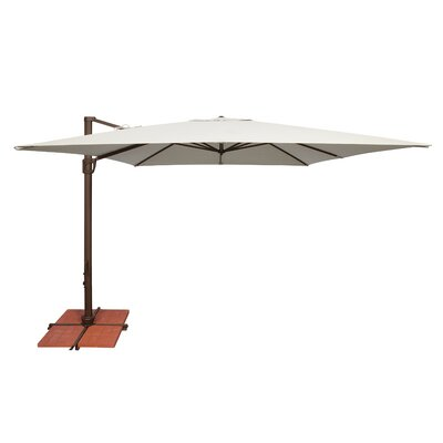 10 Bali Square Cantilever Umbrella Fabric: Sunbrella / Natural