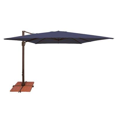 10 Bali Square Cantilever Umbrella Fabric: Sunbrella / Navy