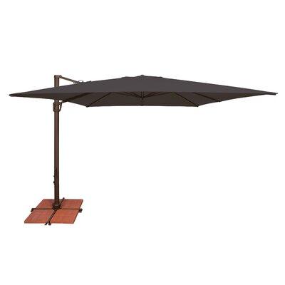 10 Bali Square Cantilever Umbrella Fabric: Solefin / Black